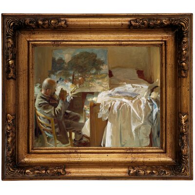 'An Artist in His Studio 1904' by John Singer Sargent Framed Graphic Art Print on Canvas Size: 12.5