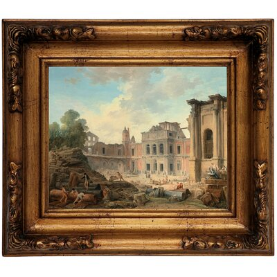 'Demolition of the Chateau of Meudon 1806' Framed Graphic Art Print on Canvas Size: 12.5
