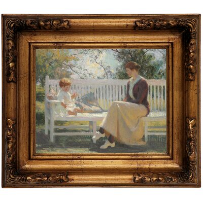 'Eleanor and Benny 1916' Framed Graphic Art Print on Canvas Size: 12.5