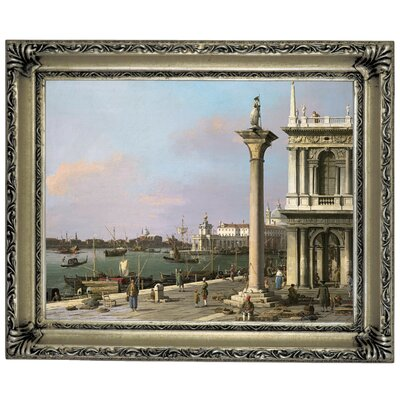 'Bacino di S Marco from the Piazzetta 1750' Framed Graphic Art Print on Canvas Size: 14