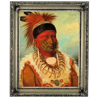 'The White Cloud, Head Chief of The Lowas 1844' Framed Graphic Art Print on Canvas Size: 17