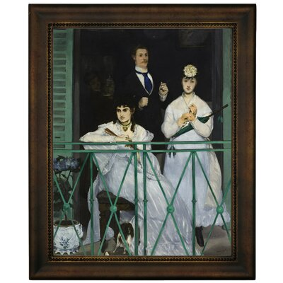 'The Balcony 1868' by Edouard Manet Framed Graphic Art Print on Canvas Size: 16.75