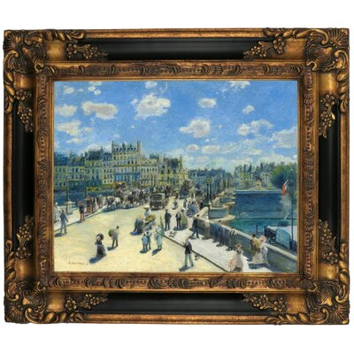 'Pont Neuf, Paris 1872' by Pierre-Auguste Renoir Framed Graphic Art Print on Canvas Size: 16.25