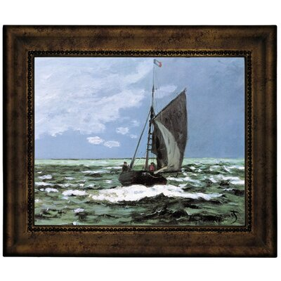 'Storm' by Claude Monet Framed Graphic Art Print on Canvas Size: 10.75