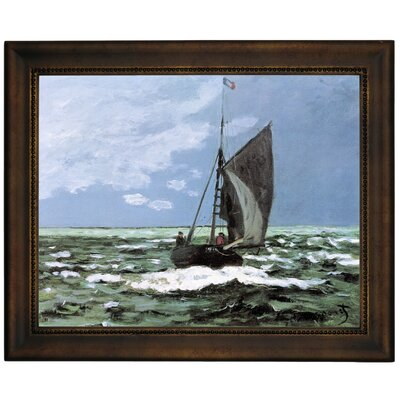 'Storm' by Claude Monet Framed Graphic Art Print on Canvas Size: 13.75