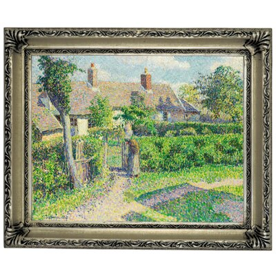 'Peasants Houses, Eragny 1887' by Camille Pissarro Framed Graphic Art Print on Canvas Size: 14