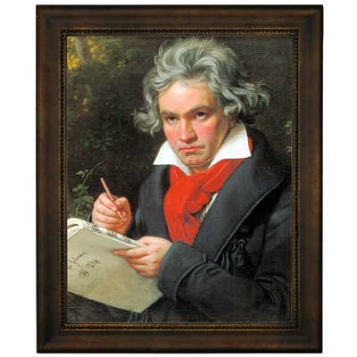 'Portrait of Ludwig van Beethoven When Composing the Missa Solemnis' Framed Graphic Art Print on Canvas Size: 16.75
