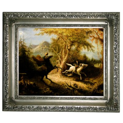 'The Headless Horseman Pursuing Ichabod Crane 1858' Graphic Art Print on Canvas Size: 11