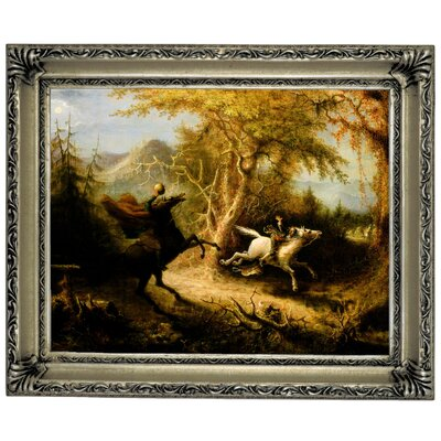 'The Headless Horseman Pursuing Ichabod Crane 1858' Graphic Art Print on Canvas Size: 14