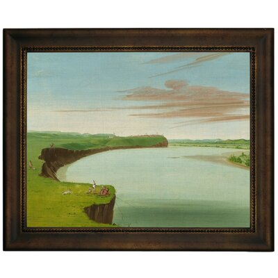 'Distant View of the Mandan Village 1832' Framed Graphic Art Print on Canvas Size: 13.75