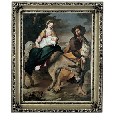 'The Flight into Egypt 1645' Framed Graphic Art Print on Canvas Size: 17