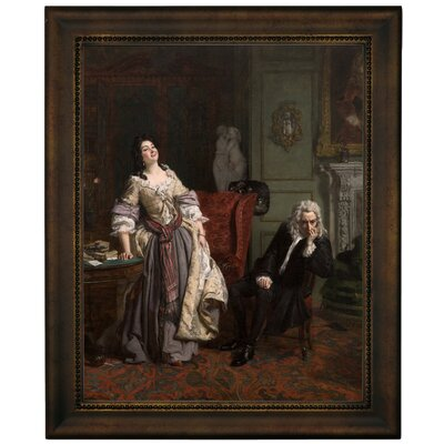 'Pope Makes Love to Lady Mary Wortley Montagu 1852' Framed Graphic Art Print on Canvas Size: 16.75