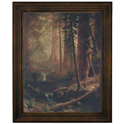 'Giant Redwood Trees of California 1874' Framed Graphic Art Print on Canvas Size: 16.75