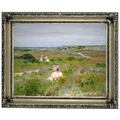 'Landscape Shinnecock Long Island 1896' Framed Graphic Art Print on Canvas Format: Silver Frame, Size: 11