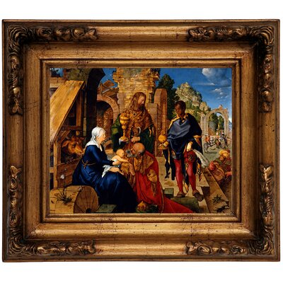 'The Adoration of the Magi 1504' Framed Graphic Art Print on Canvas Size: 12.5