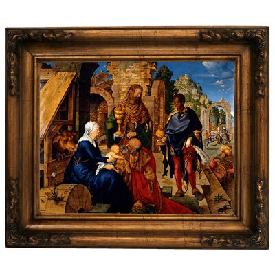 'The Adoration of the Magi 1504' Framed Graphic Art Print on Canvas Size: 15.5