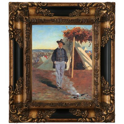 'Portrait of Albert Post 1864' by Winslow Homer Framed Graphic Art Print on Canvas Size: 12.75