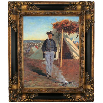 'Portrait of Albert Post 1864' by Winslow Homer Framed Graphic Art Print on Canvas Size: 19.25