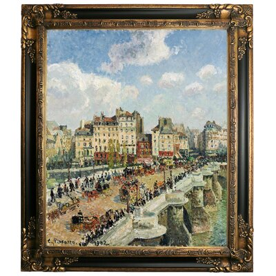 'The Pont-Neuf 1902' by Camille Pissarro Framed Graphic Art Print on Canvas Size: 15.25