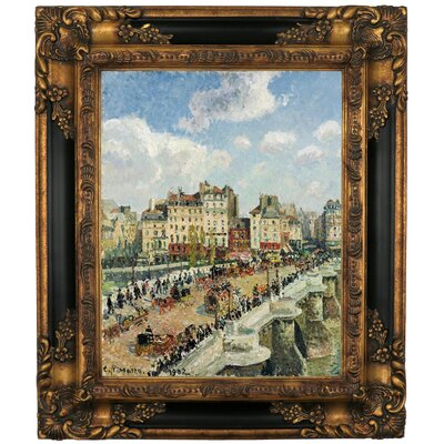 'The Pont-Neuf 1902' by Camille Pissarro Framed Graphic Art Print on Canvas Size: 25.25