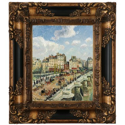 'The Pont-Neuf 1902' by Camille Pissarro Framed Graphic Art Print on Canvas Size: 29.25