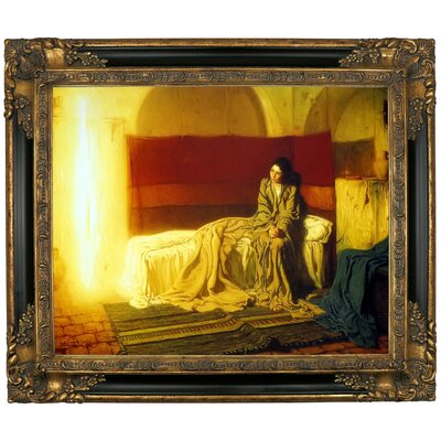 'The Annunciation' Framed Graphic Art Print on Canvas Size: 25.25
