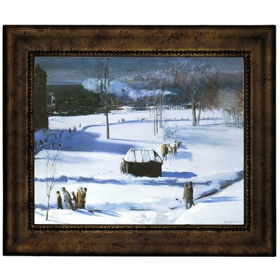 'Blue Snow, The Battery 1910' Framed Graphic Art Print on Canvas Size: 10.75
