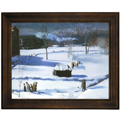 'Blue Snow, The Battery 1910' Framed Graphic Art Print on Canvas Size: 13.75