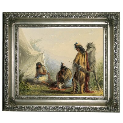 'Indian Courtship 1858' Framed Graphic Art Print on Canvas Size: 11