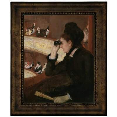 'In the Loge 1878' by Mary Cassatt Framed Graphic Art Print on Canvas Size: 12.75