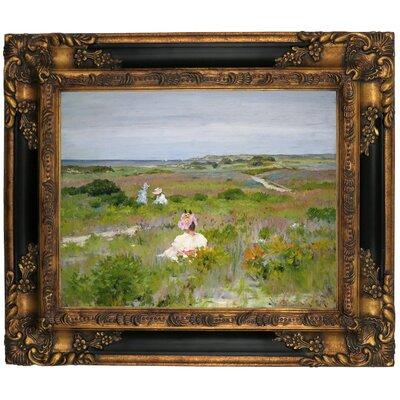 'Landscape Shinnecock Long Island 1896' Framed Graphic Art Print on Canvas Format: Gold/Black Frame, Size: 13.25
