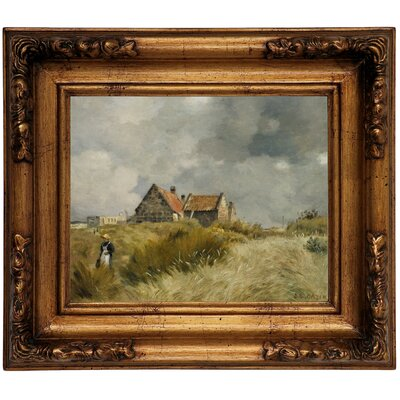 'Cottage in the Dunes' Framed Graphic Art Print on Canvas Size: 12.5
