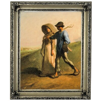 'Going to Work 1851' Framed Graphic Art Print on Canvas Size: 17