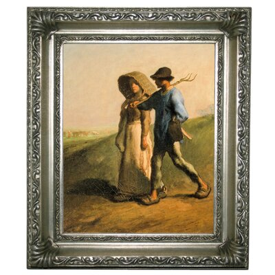 'Going to Work 1851' Framed Graphic Art Print on Canvas Size: 13