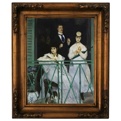 'The Balcony 1868' by Edouard Manet Framed Graphic Art Print on Canvas Size: 14.5