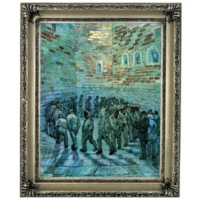 'Prisoners Exercising After Dore' by Vincent Van Gogh Framed Graphic Art Print on Canvas Size: 17