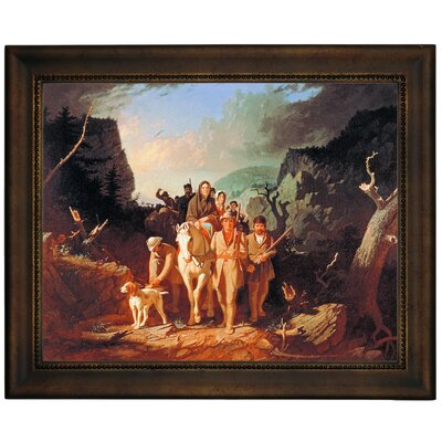 'Daniel Boone Escorting Settlers Through the Cumberland Gap' Framed Graphic Art Print on Canvas Size: 13.75