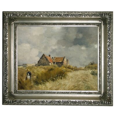 'Cottage in the Dunes' Framed Graphic Art Print on Canvas Size: 11