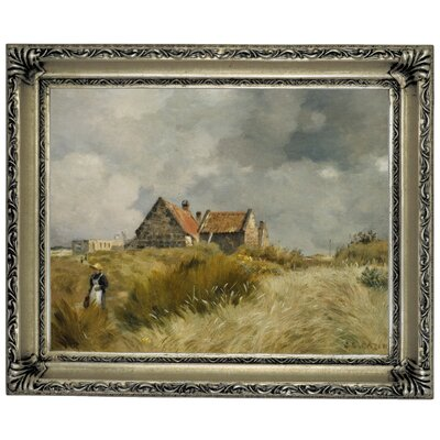 'Cottage in the Dunes' Framed Graphic Art Print on Canvas Size: 14