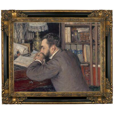 'Henri Cordier 1883' Framed Graphic Art Print on Canvas Size: 16.25