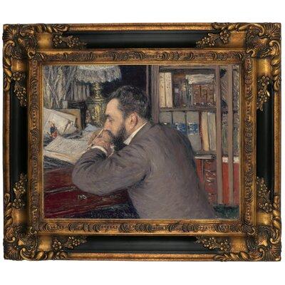 'Henri Cordier 1883' Framed Graphic Art Print on Canvas Size: 13.25