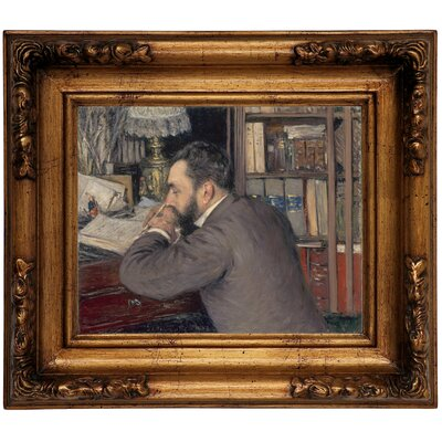 'Henri Cordier 1883' Framed Graphic Art Print on Canvas Size: 12.5
