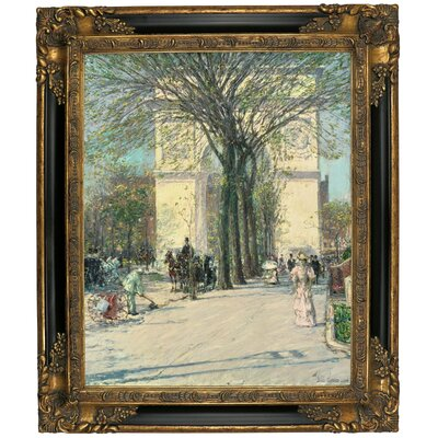 'Washington Arch, Spring 1890' Framed Graphic Art Print on Canvas Size: 12.75