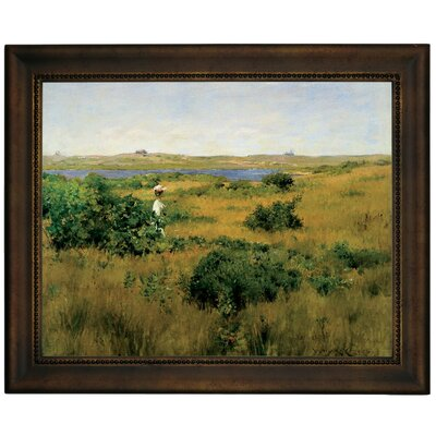 'Summer at Shinnecock Hills 1881' Framed Graphic Art Print on Canvas Size: 10.75
