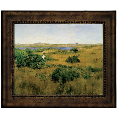 'Summer at Shinnecock Hills 1881' Framed Graphic Art Print on Canvas Size: 13.75