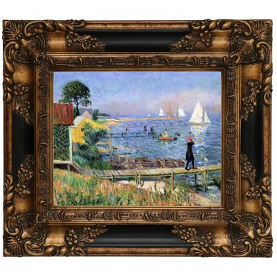 'Bathers at Bellport 1912' Framed Graphic Art Print on Canvas Size: 13.25
