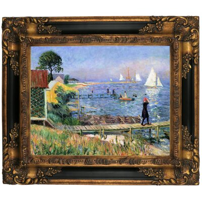 'Bathers at Bellport 1912' Framed Graphic Art Print on Canvas Size: 16.25