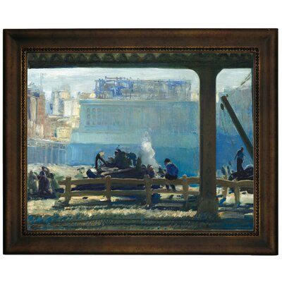 'Blue Morning 1909' Framed Graphic Art Print on Canvas Size: 13.75