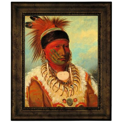 'The White Cloud, Head Chief of The Lowas 1844' Framed Graphic Art Print on Canvas Size: 12.75