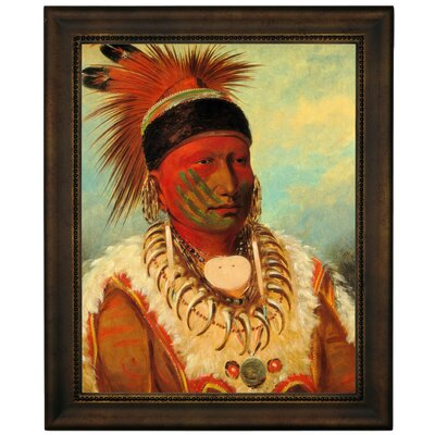 'The White Cloud, Head Chief of The Lowas 1844' Framed Graphic Art Print on Canvas Size: 16.75